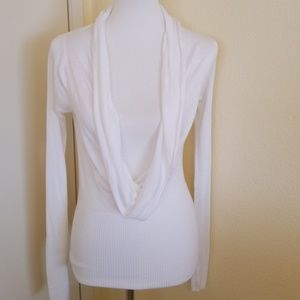 BCBG Maximara Fitted Cowl Neck Sweater
